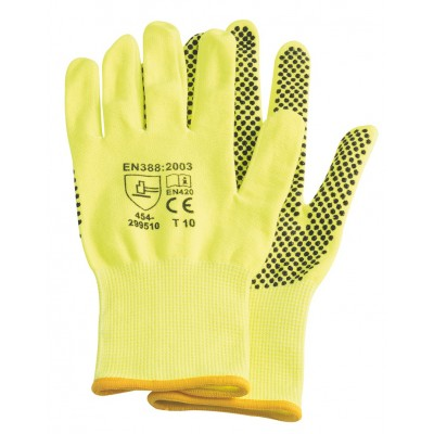 Gants manutention premium, taille L, jaune fluo - RONDY FRANCE