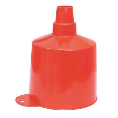 Entonnoir plastique orange, bec rigide - AUTOBEST