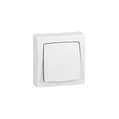 Legrand leg97413 poussoir simple saillie blanc