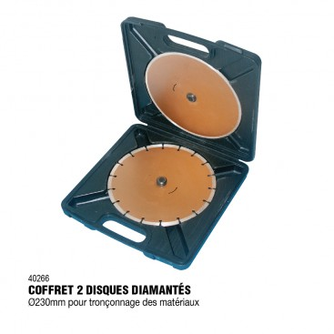 Lot de 2 disques diamantés 230mm - RONDY