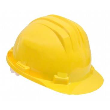 Casque de protection chantier jaune tu