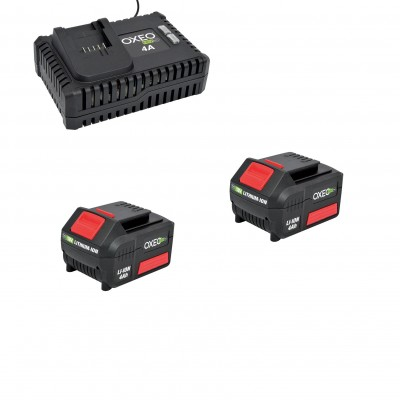 Deux batteries 4Ah et un chargeur super rapide batterie 18V Easy Full - 4A