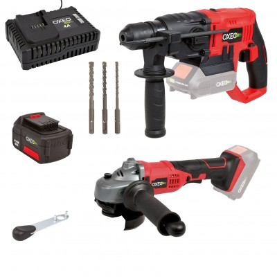 Pack bricolage EASY FULL Perfo / Meuleuse / batterie 4A / chargeur 4A